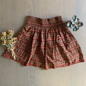dELIA*s Vintage 90's Skirt Geometric Aztec Pattern
